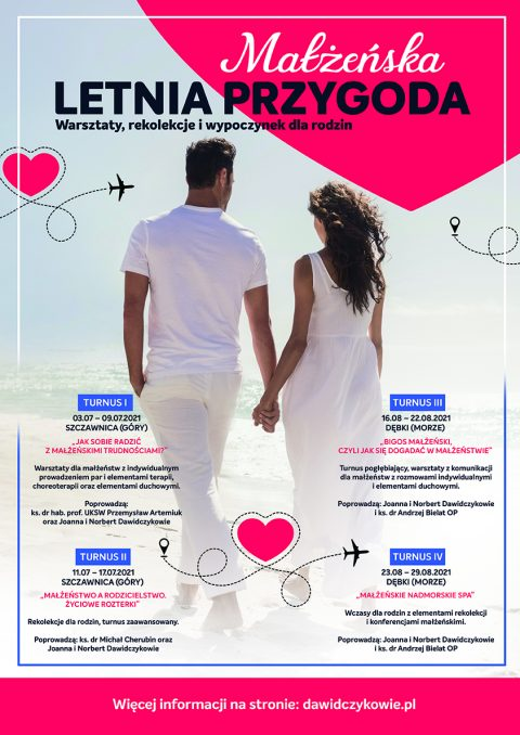 Rekolekcje dla małżeństw w wakacje