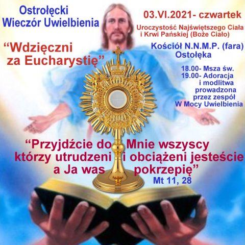 Wieczór Uwielbienia w Farze w Boże Ciało 2021 r.